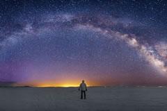 Stargazing in the salar.