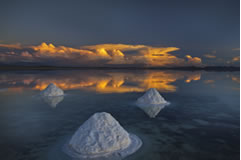 Uyuni salt mounts.