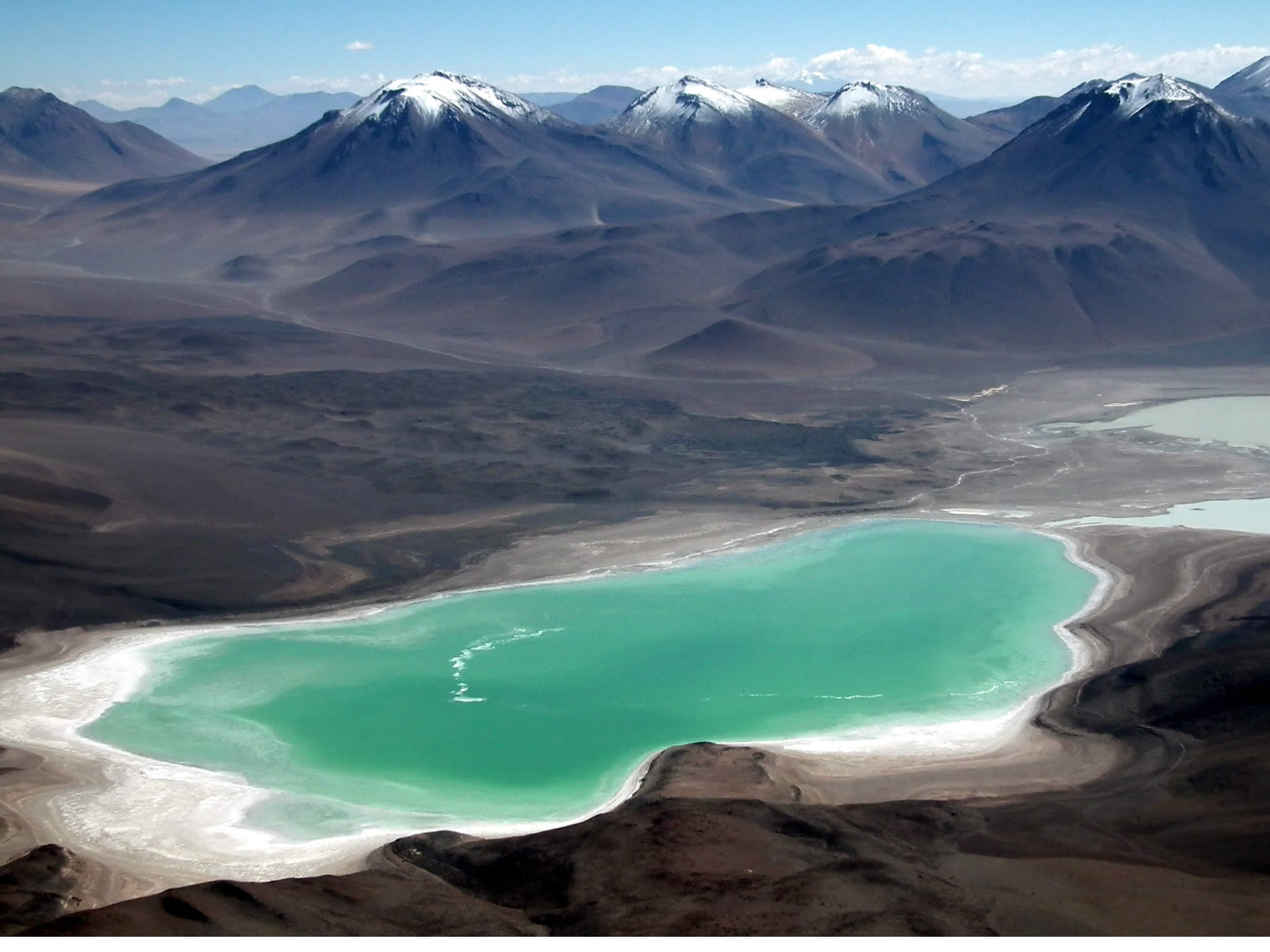 The Green Lagoon, as seen from the top of the Licancabur volcano