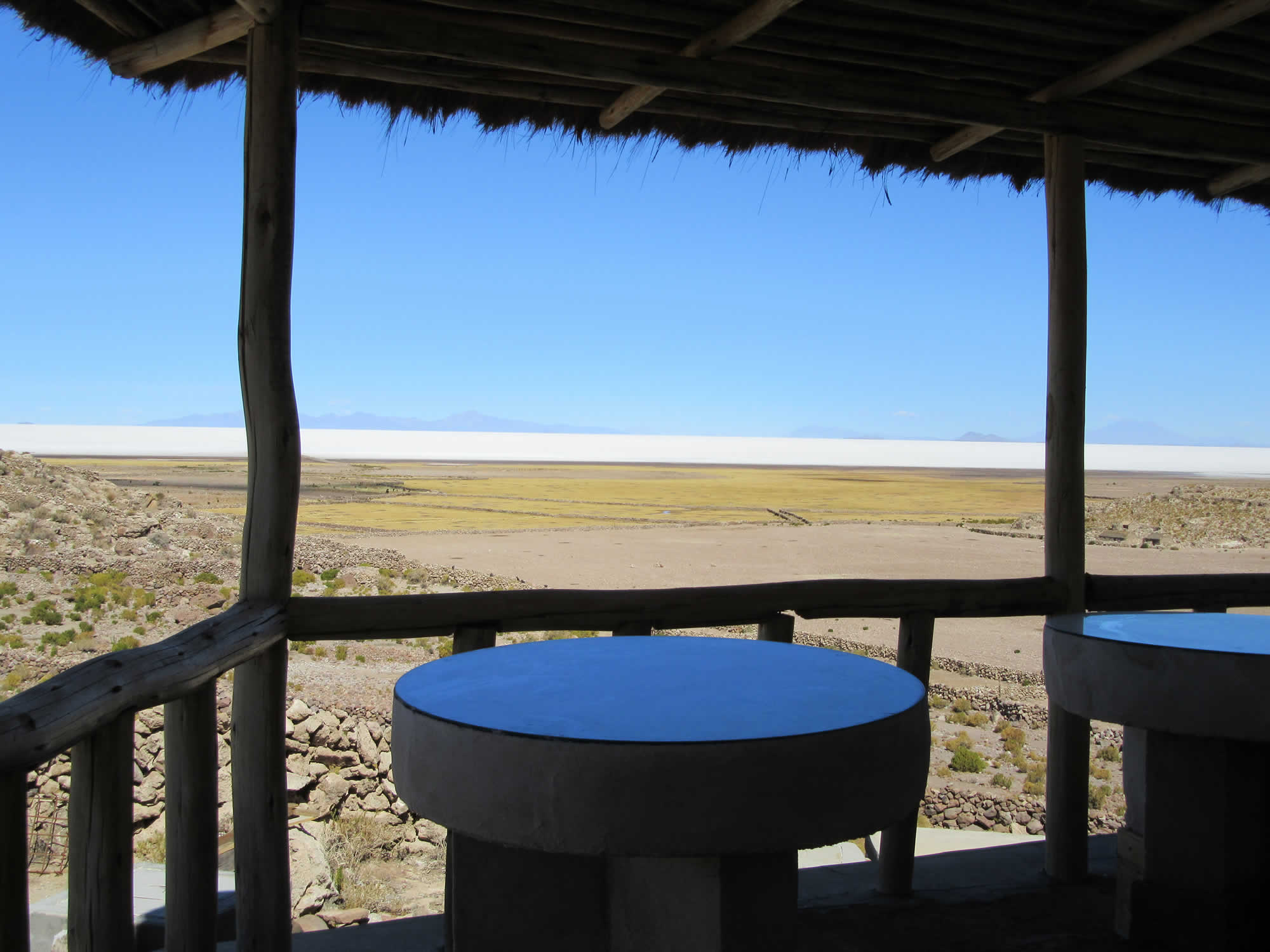 The hotel offers overwhelming views over the surrounding salt flat