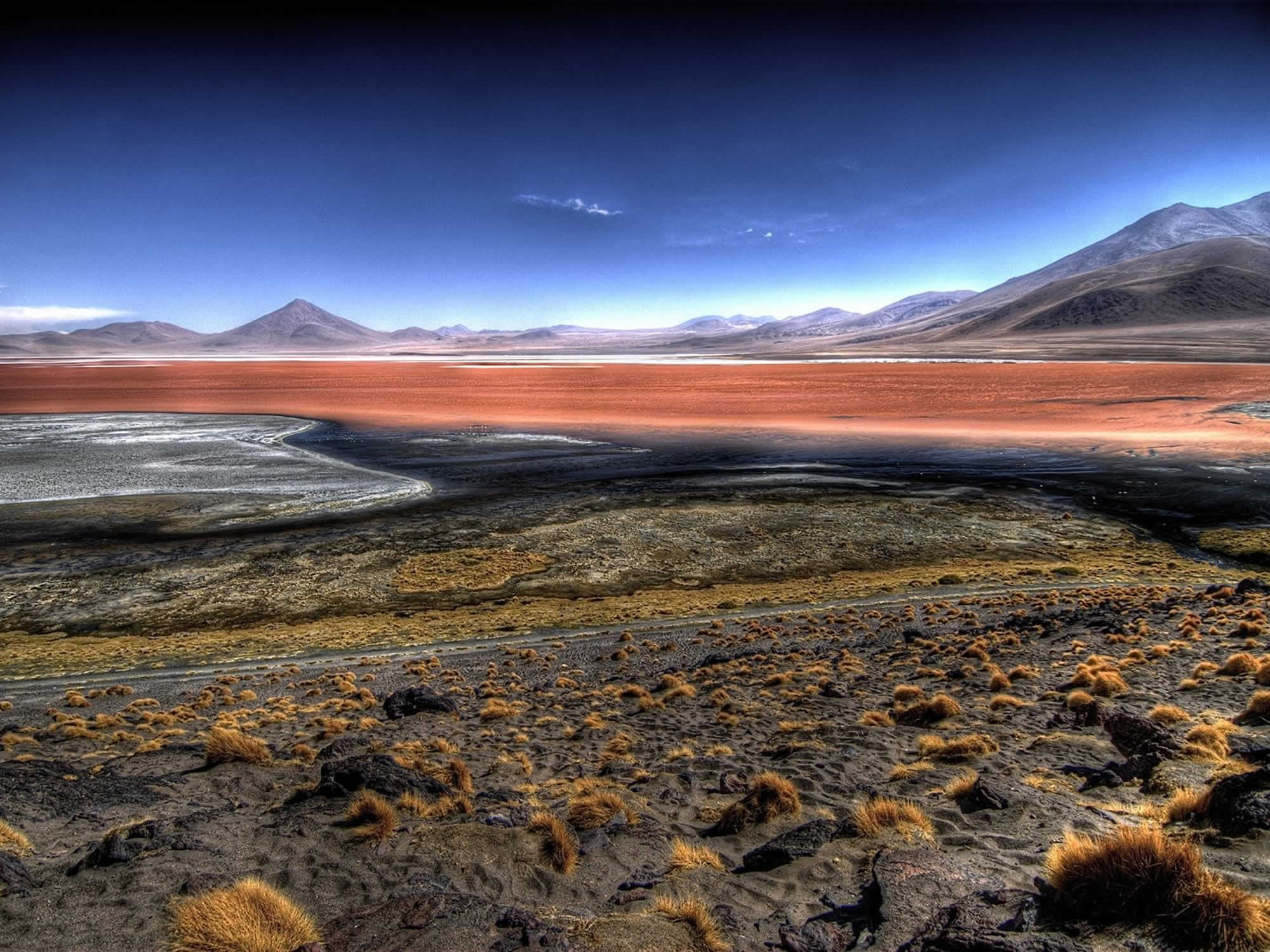 The colours of the area around the Red lagoon are truly from another planet