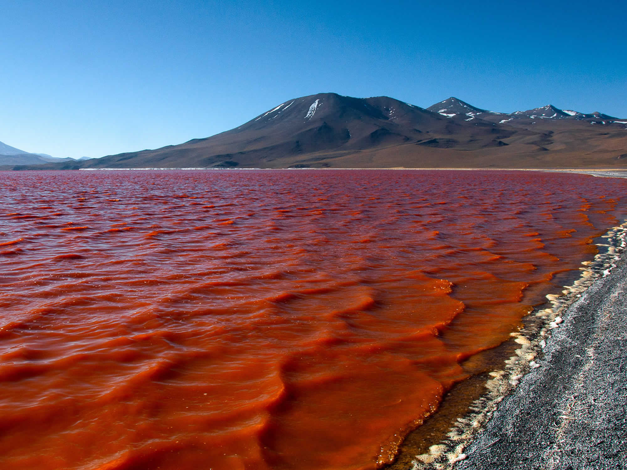 The Red lagoon looks like a lake of blood