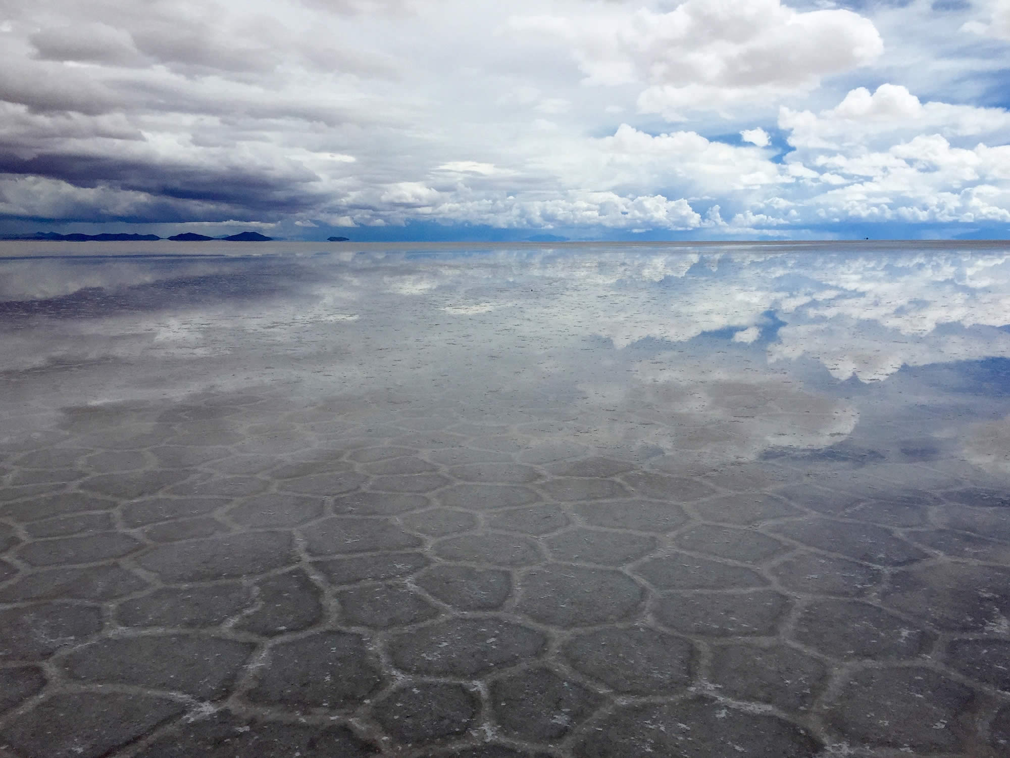 Water in the Salar de Uyuni