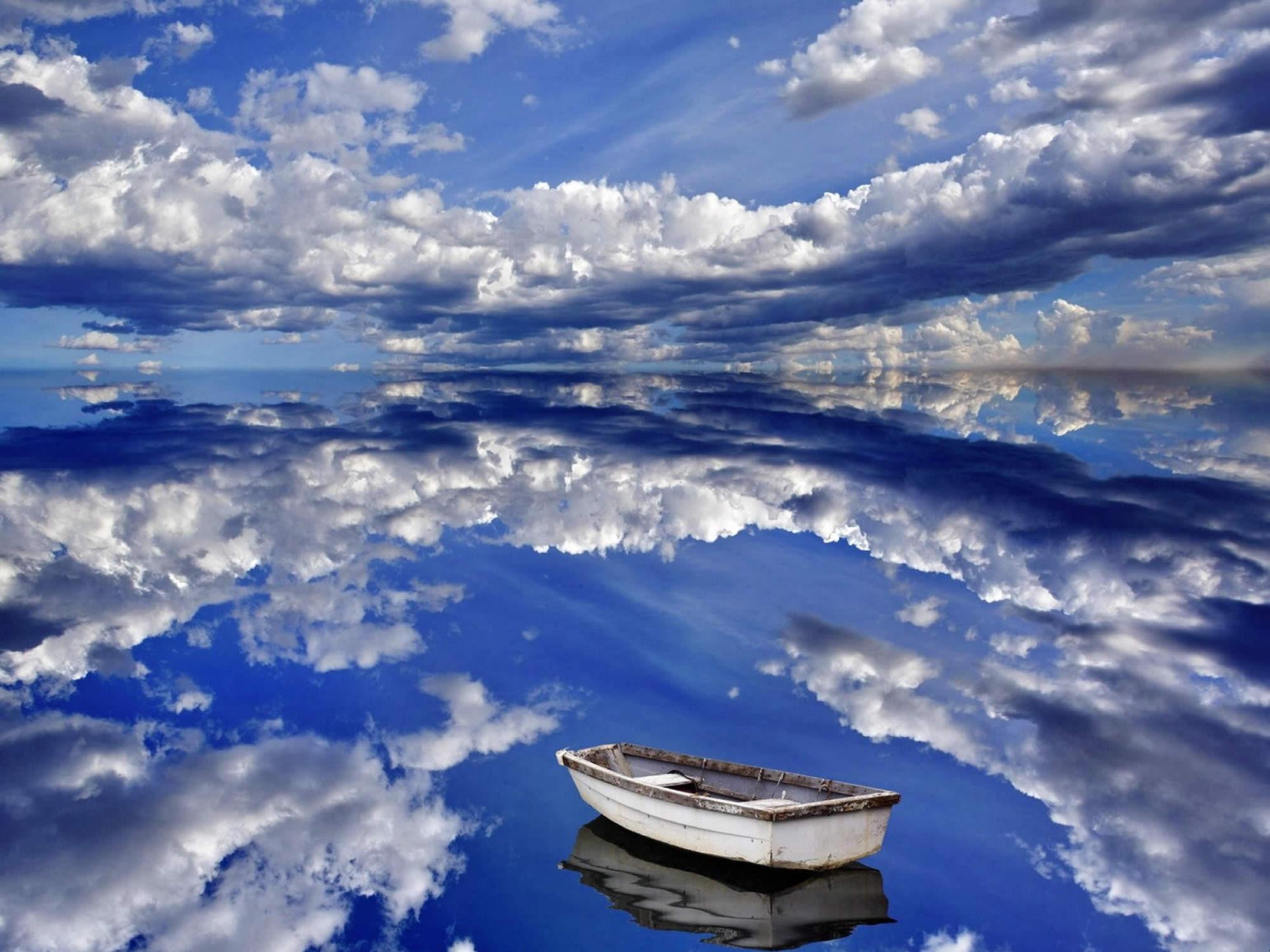 Boat on the Salar