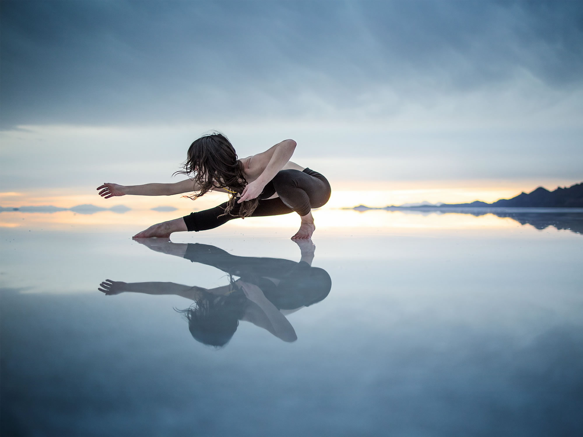 Dancer in the Uyuni Salt Flat