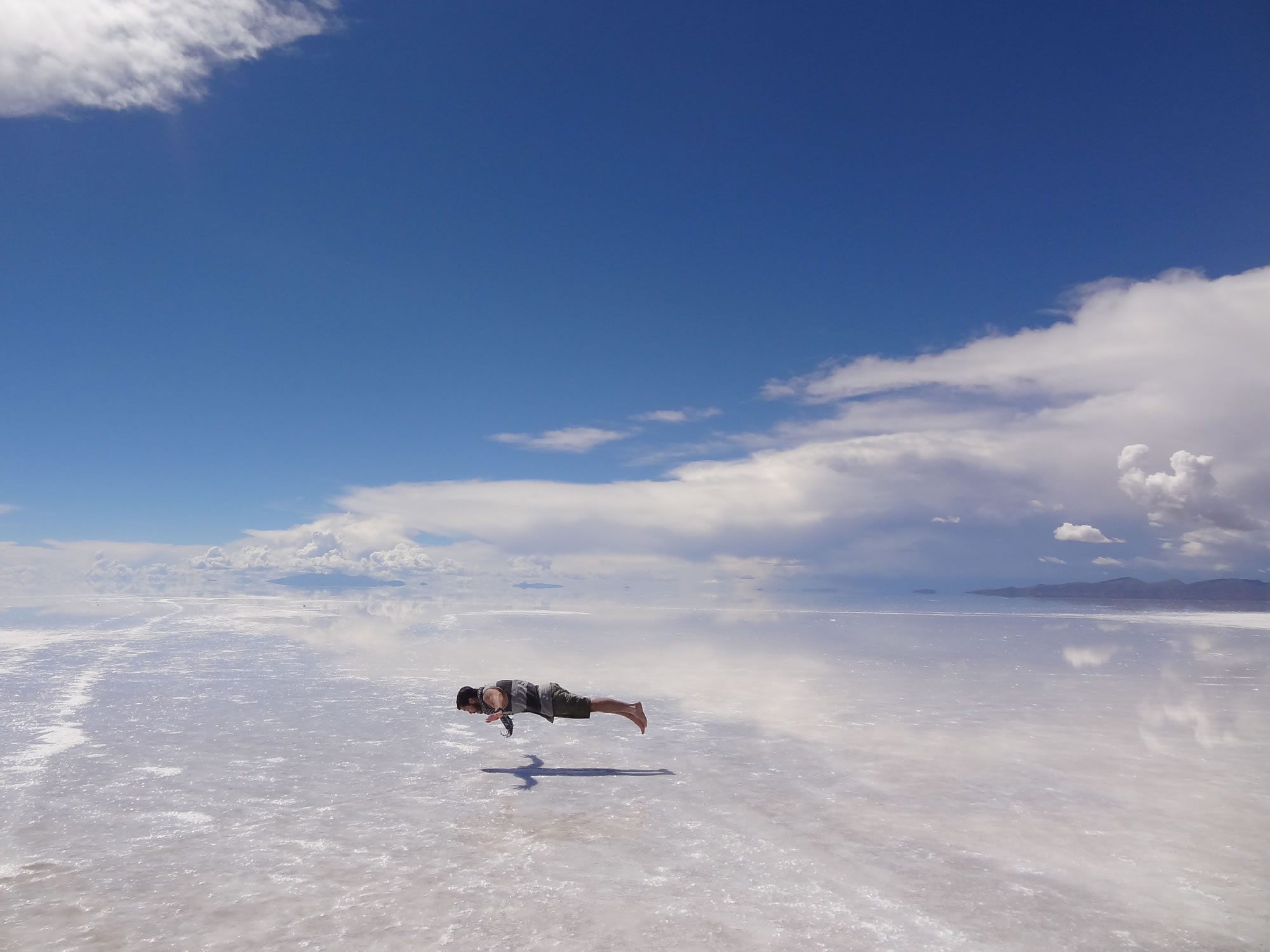 Floating above the salt flat