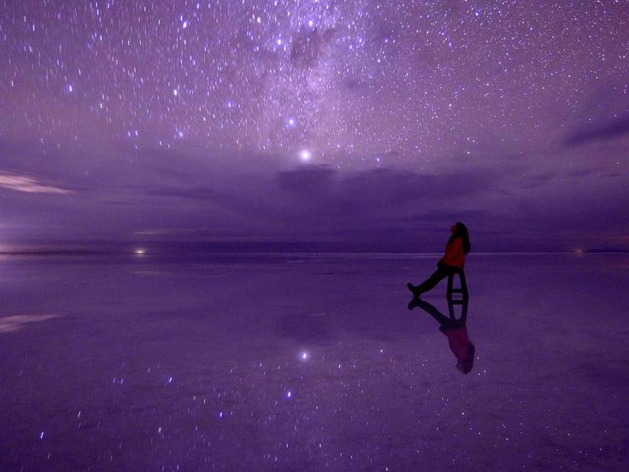 Starry sky in Uyuni