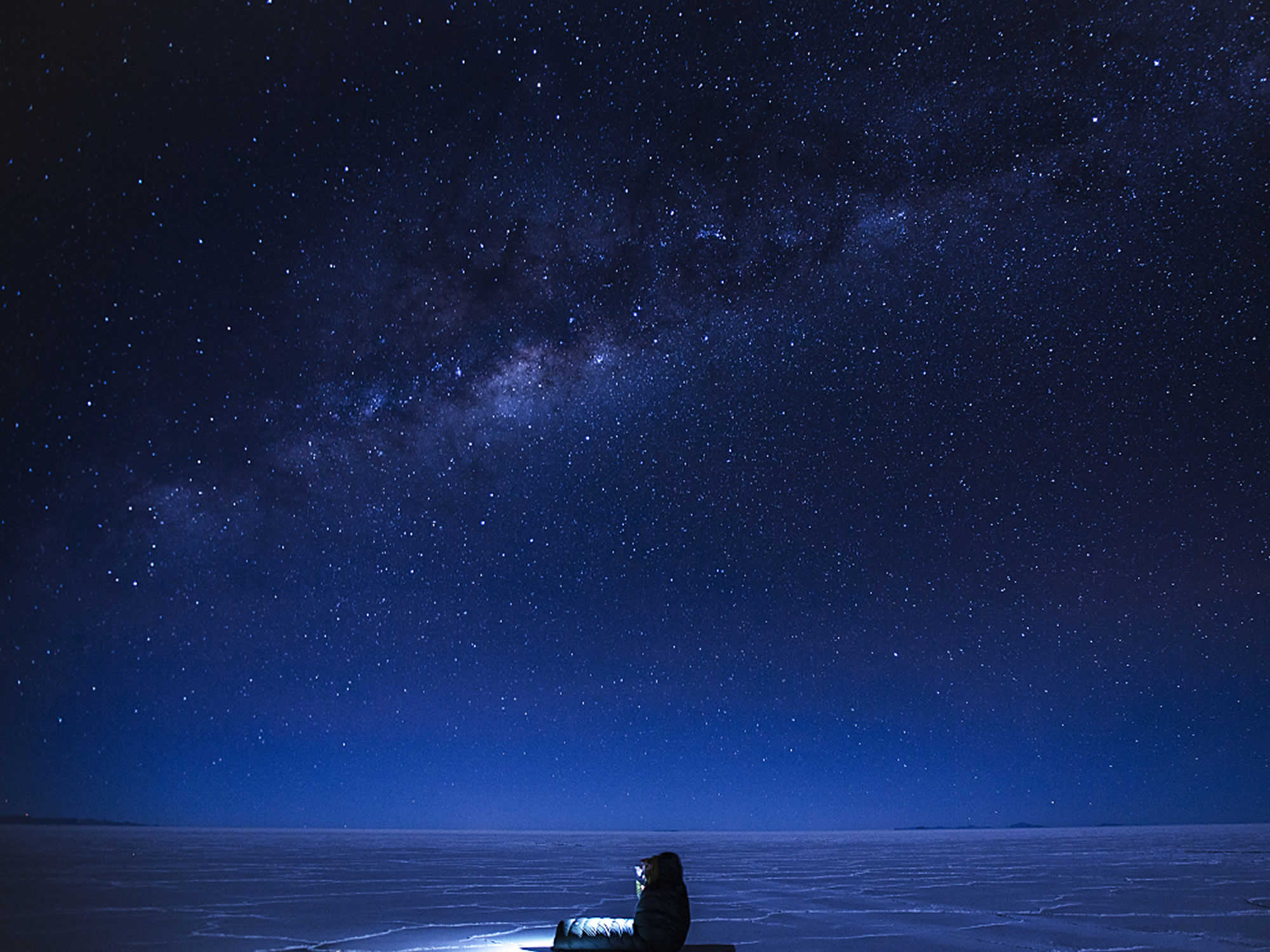 Salar de Uyuni stars at night