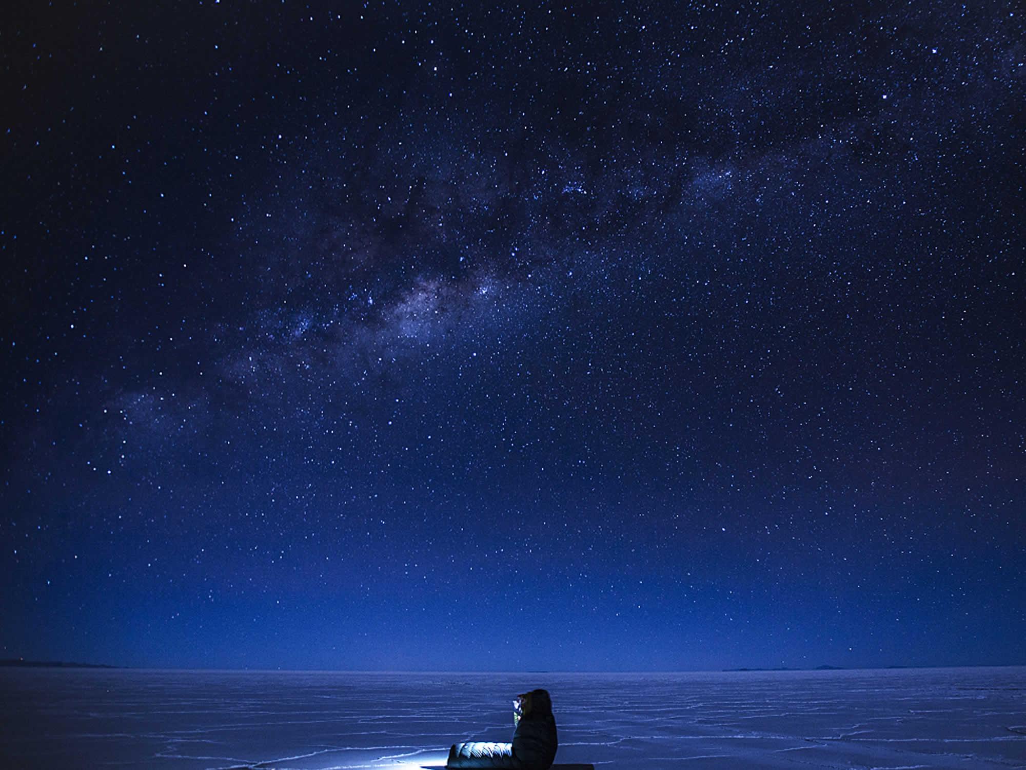 Salar de Uyuni stars at night