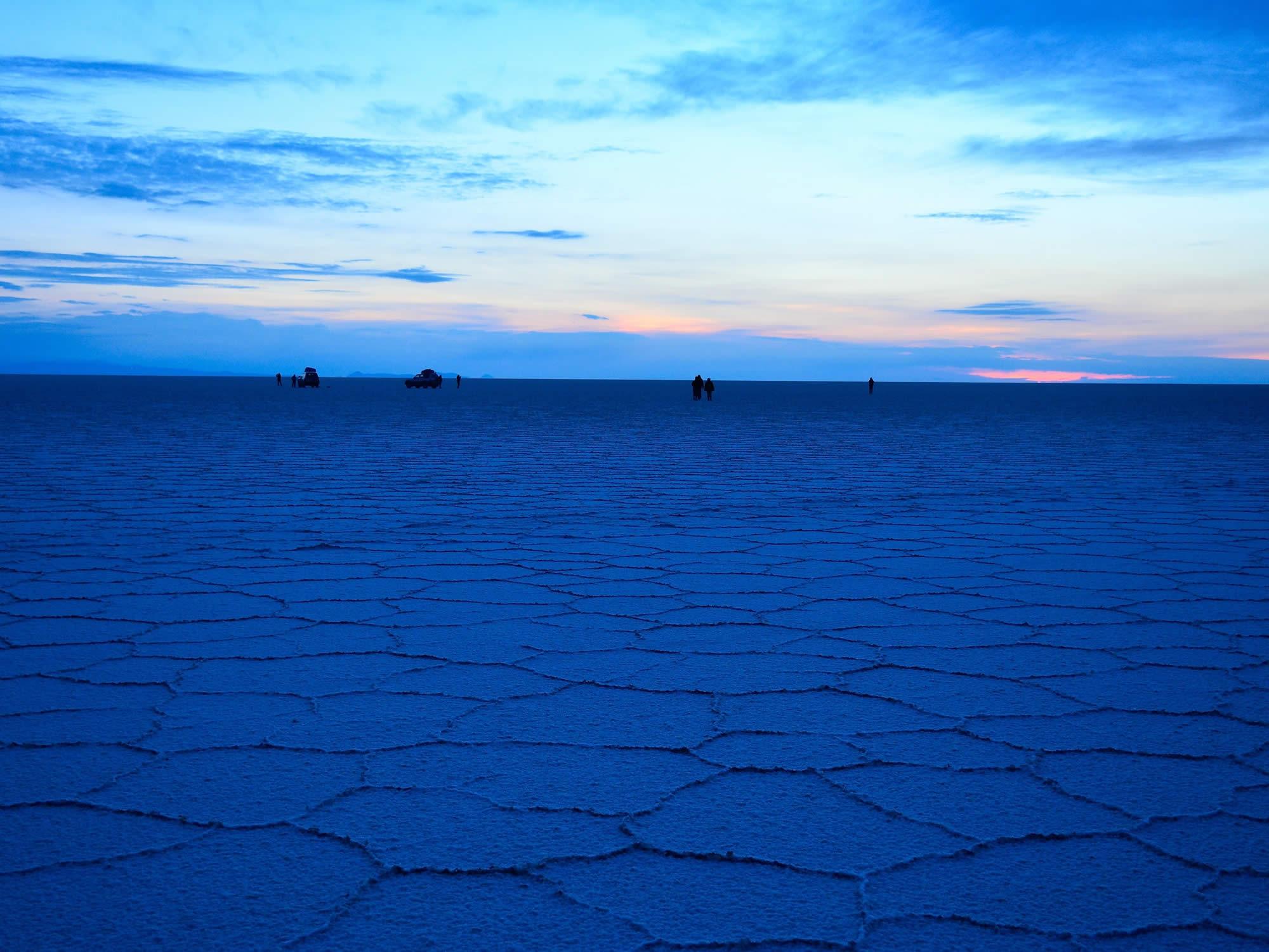 Uyuni salt flat sunrise